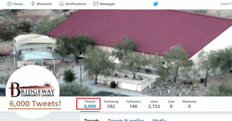 Check out our Twitter feed - we've reached 6,000 Tweets!